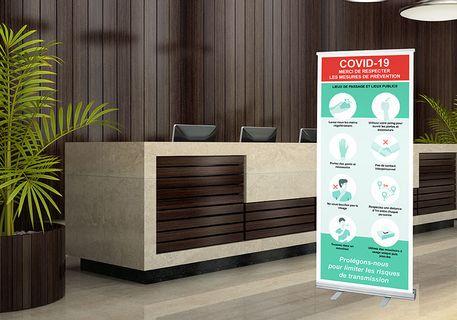 Roll up enrouleur hotel coronavirus covid 19