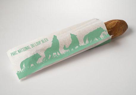 Sachet papier pain baguette - Impression 1 couleur