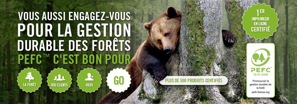 Exaprint s'engage pour l'environnement, avec une gestion durable de la forêt