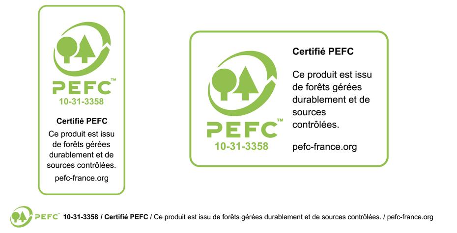 PEFC, le logo avec signature complète