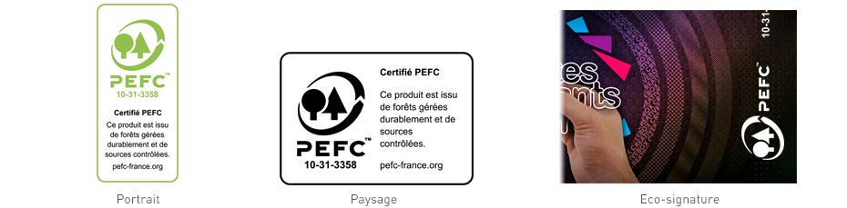 Les 3 configurations du logo PEFC
