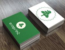 carte de visite verte exaprint avec logo arbre