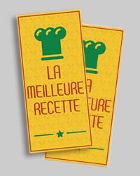 Carte menu 10x21 cm