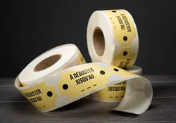 Étiquettes en rouleau